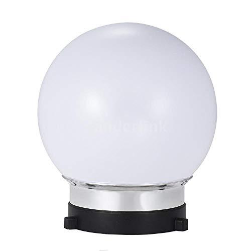 FidgetFidget 7inch Spherical Monolight Diffuser Ball with Bowens S-Type Mount for Studio C5H6
