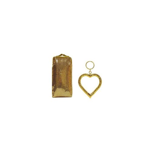 UPC 604541216717, Whiting and Davis Long CigaretteEyeglass Case With Heart Key Fob - Gold
