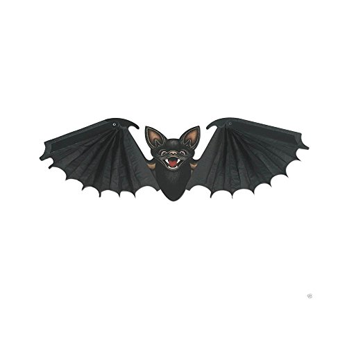 [HALLOWEEN Party Decoration Prop HANGING TISSUE Vampire BAT 24 inch Wingspan Black] (Vampire Prop With Wings)