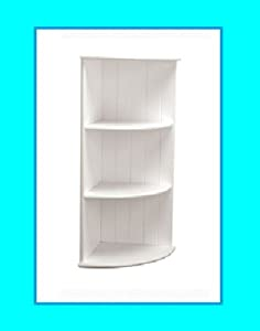 Mdf wall mounted 3 tier white bathroom corner shelves - White bathroom corner shelf unit ...
