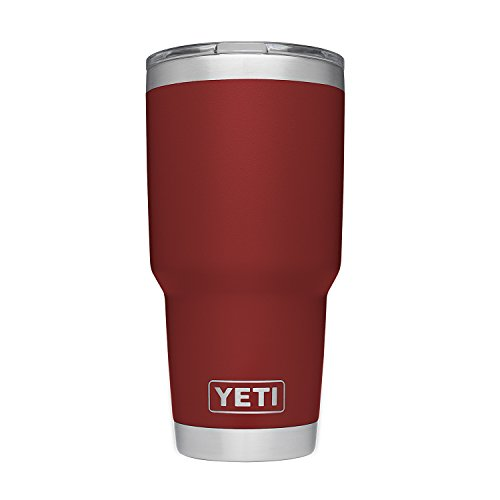 YETI Rambler 30 oz Stainless Steel Vacuum Insulated Tumbler, Brick Red