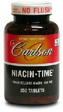 Carlson Niacine temps 500mg, 250 Comprimés