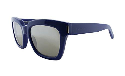 Saint Laurent Bold 2 DTO Blue Sunglasses Silver Mirror - Saint Laurent Sunglasses Yves Mens