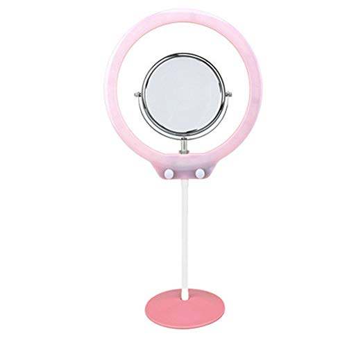 TTShonf Women Table LED Light with Ball Head Cell Phone Holder Portrait Photography Lamp Pink ()