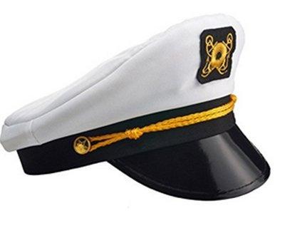 PlayO Boat Captain Hat - Sailor Costume Hat, Yacht Cap