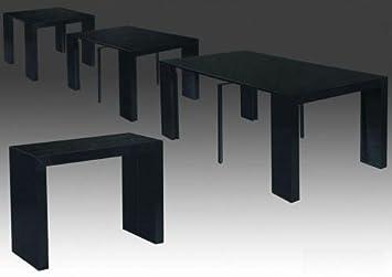 Console Laque Table Extensible3 Noir Myna Rallonges 8nOk0XPw