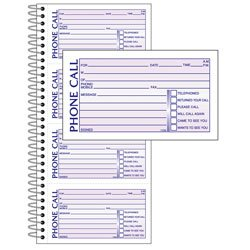 Office Depot(R) Brand Phone Message Book, 11In. X 5 1/2In., Canary/White, Book Of 400 Messages
