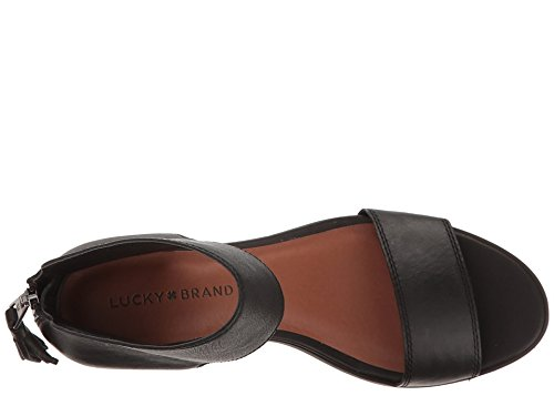 Lucky Brand Women's Barbina Sandal, Black 1, 9 Medium US