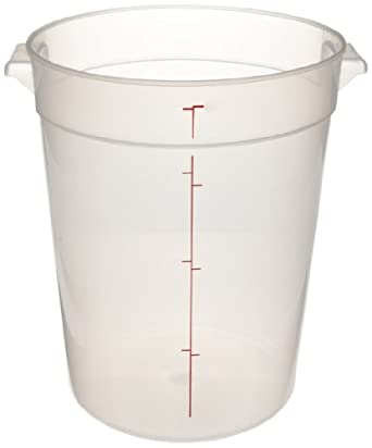 """Cambro RFS8PP 8 qt Capacity, 9-15/16"""" Top Diameter x 10-7/8"""" Height, Translucent Round Food Storage Container (Cover Sold Separately)"""