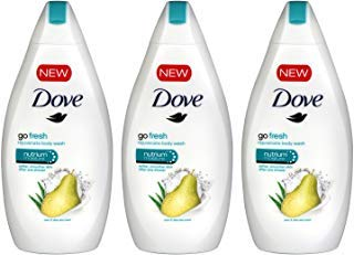 Dove Go Fresh Body Wash, Pear and Aloe Scent, 16.9 Ounce / 500 mililiter (Pack of 3) International Version