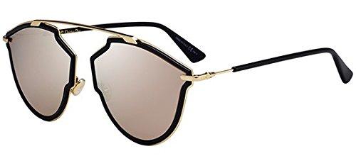 Cristian Dior DIORSOREALRISE 02M2 Black Gold Irregular Sunglasses for (Dior Sonnenbrille Silber)