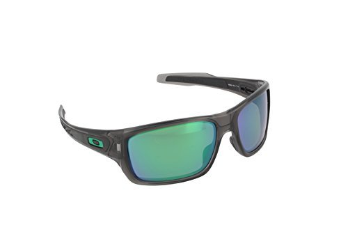 Oakley Turbine Sunglasses Grey Smoke / Jade Iridium Polarized & Carekit - Turbine Oakley Polarized
