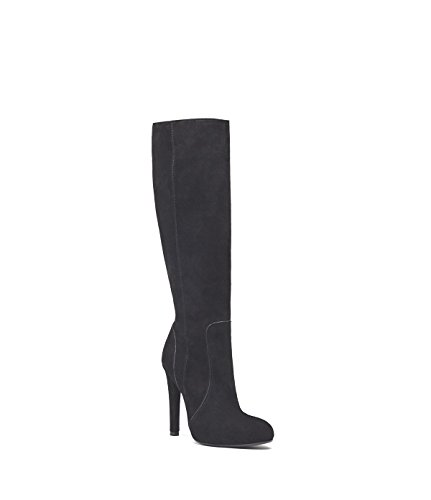 shop cheap price PoiLei Olivia - Women's Shoes/Knee-high Boots Made from Soft Suede - high Stiletto Heel and Pointed Toe/Classic Look Black amazing price for sale VDxje0aQpj