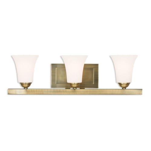 Livex Lighting 6493-01 Ridgedale 3 Light Antique Brass Bath Vanity
