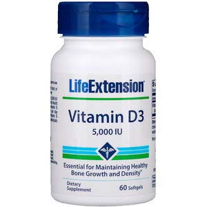 Life Extension Vitamin D3 5,000 IU 60 Softgels - 3-Pak