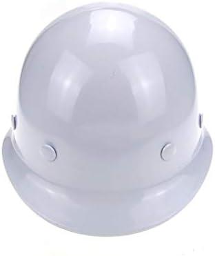 LCSHAN FRPヘルメット工事現場監視安全ヘルメット強化換気 (Color : White)