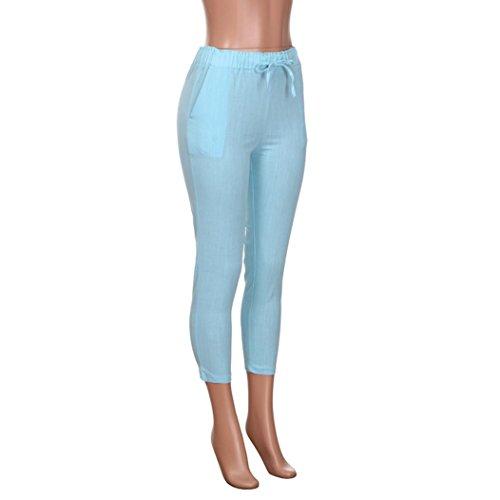 SOMESUN e Strisce Dolce Nove Pantaloni Righe Pantaloni a Vita Skinny Fiocco Con Alta Donna Jeans Da Moda Verde 6vZrO6