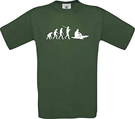 Shirtinstyle Camiseta de Evolución Tablista Surf Oleaje Deporte Náutico Surf Camisa Divertida Muchos Colores Kultshirt S-XXL: Amazon.es: Deportes y aire libre