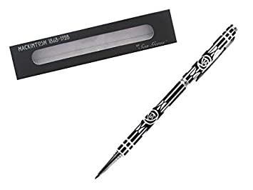 Womens Gift Boxed Pen - Charles Rennie Mackintosh Black Rose