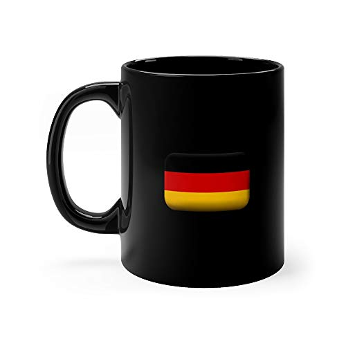 Germany Matted Icon And Button Rectangular Shape With Rounded Corners Deutsch Funny Cute Mug 11oz Ceramic ()