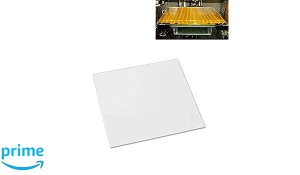 Placa de vidrio de borosilicato de 310 x 310 x 4 mm con bordes ...