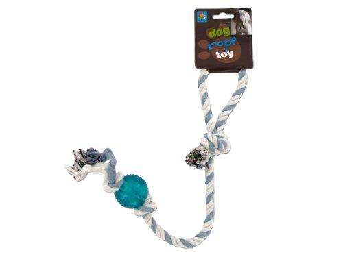 Toys Plastic Distributor - Kole KI-DI235 Dog Rope Toy with Plastic Ball, One Size