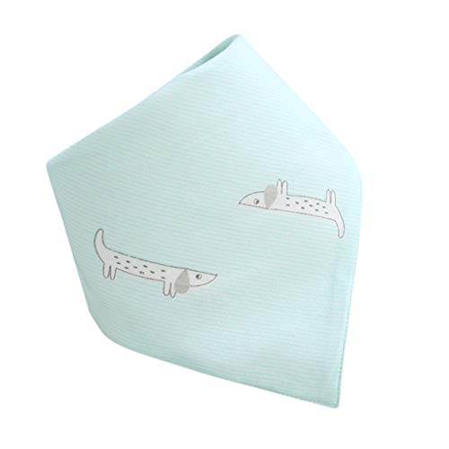 Tantisy ♣↭♣ Bibs for Toddlers ☘ Baby Girls Boys Cotton Print Bandana Kids Saliva Towel Triangle Towel Navy