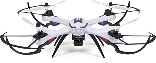World Tech Toys Prowler Spy Drone Video Camera & Photo 2.4GHz 4.5CH RC Quadcopter Spy Drone, White, 22.75 x 22.75 x 6.5