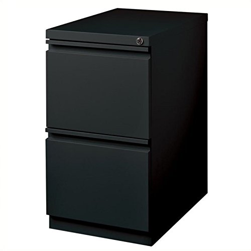 Hirsh Industries 2 Drawer Mobile File Cabinet File in Black by Hirsh Industries