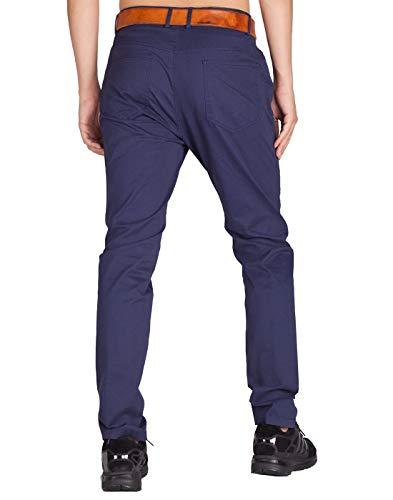 Italy Colori Blu Mezzanotte 21 Slim Chino Cargo Uomo Morn Fit Casual Pantaloni Jogging arxBaq