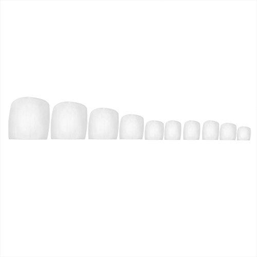 - Fan-Ling 500 Pcs Fake Artificial Nails Sticker, False Toe Nails Tips, Perfect Choice for Fashion