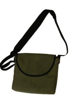 LVAD Messenger Bag Green Canvas