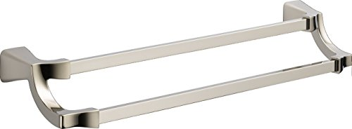 Delta Faucet 75225-PN Tesla Double Towel Bar, Polished Nickel, 24'' by DELTA FAUCET