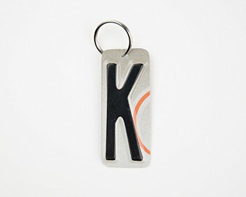 Graduation License Plates (Letter K Key Chain - Initial K key chain - License Plate Key Chain - K Charm - gift tag - Gift for Teacher - Gift for Employees - stocking stuffer)