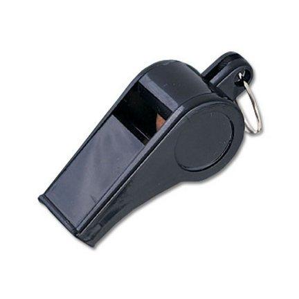 Black Plastic Whistles - 1 Dozen