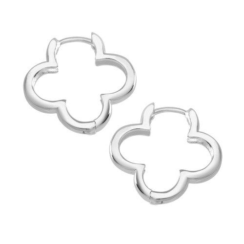 VINANI Klapp-Creolen Small Flower Silber 925 Ohrringe CSF