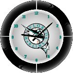 Florida Marlins MLB Team Neon Everbright Wall Clock