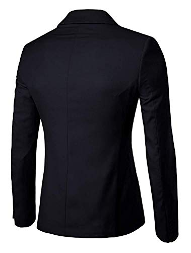 Taille Large Unie Bussiness Noir Couleur Blazer coloré Fit Qiusa Homme Slim Unicolore 6Tx4P0nvqw