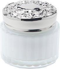 Lady Primrose Celadon Body Creme Jar w/Engraveable Lid