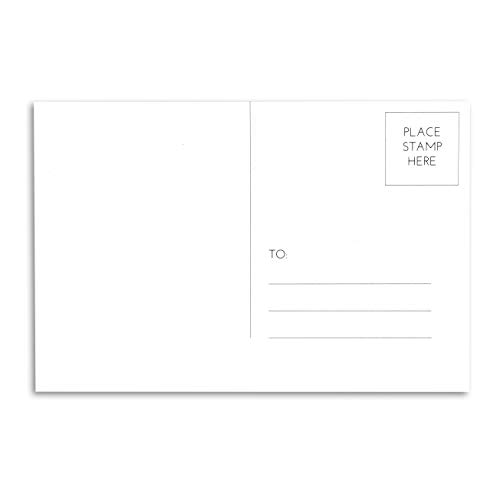 White Christmas Postcard - Home Advantage - (50 Pack) Blank Plain White 4x6 Postcards with Mailing Side