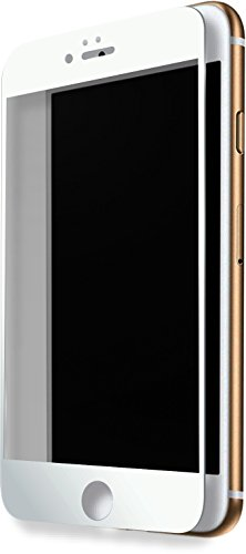 Protection d'écran en verre trempé (100% de surface couverte) pour Apple iPhone 7 Plus, Blanc