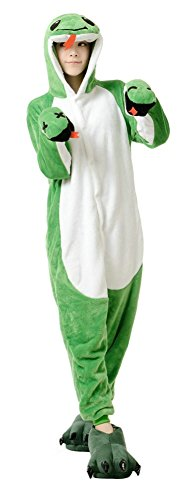 Winter Halloween Costumes (Elfjoy Snake Sleepsuit Adult Unisex Halloween Winter Warm Pajamas Cosplay Costumes Snake Small)