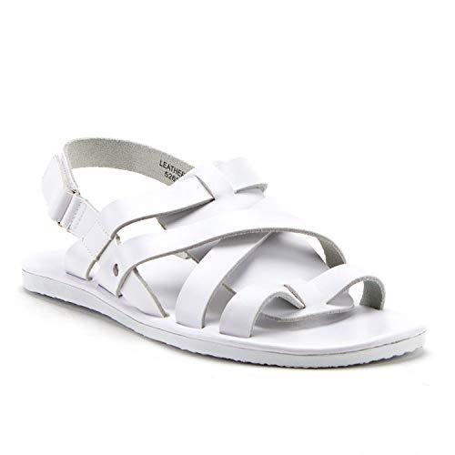 Jaime Aldo Mens 52626 Leather Gladiator Strappy Open Toe Slingback Sandals