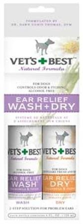 Bramton Company Vet`s Best Ear Wash And Dry 2 Pack ()