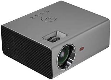 プロジェクタ 2000ルーメンLEDプロジェクター1280x720dpi解決サポート1080P HDシアタープロジェクター、基本的なバージョンについては、家庭やオフィス ーカー ホームシアター 天井投影 (Color : Silver Grey, Size : One size)