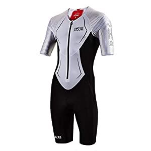 Huub DS Long Course Triathlon Suit White Red Swimming Tri Open Water Size XS-XXL