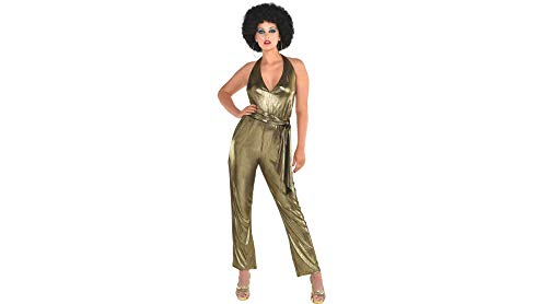 Amscan '70s Disco Jumpsuit for Women, One Size, with Attached Belt -