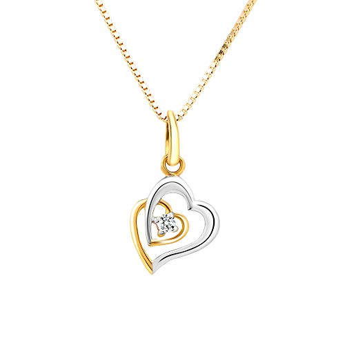 WHP   Your Online Jewellery Store Jewellers 18KT Yellow Gold Diamond Heart Pendant for Women