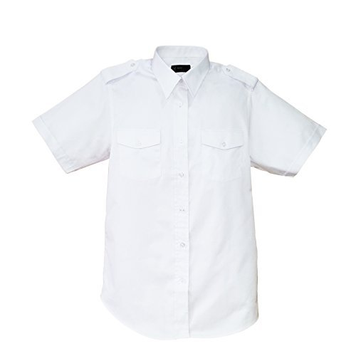 Aero Phoenix Men's Elite Short Sleeve Pilot Shirt 14.5 White - Oxford Pilot Shirts