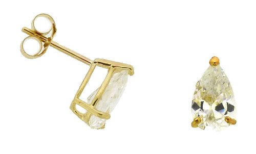 Boucles d'oreille Femme - EY-C234-WCZ - Or jaune (9 carats)